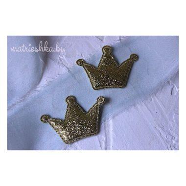 """Патч Корона """"Золото"""", 3 см"""