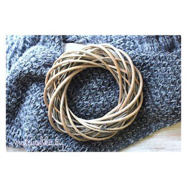 Основа для венка плетеная, 20 см