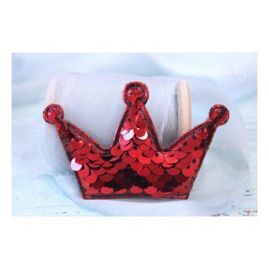 """Патч 3D с пайетками """"Корона"""", красный"""