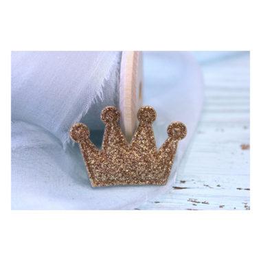 """Патч с блестками """"Корона"""", золотой, 3*2,5 см"""