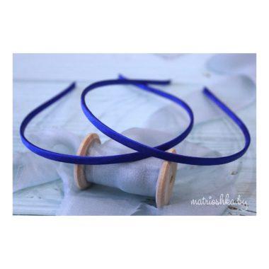 Ободок металлический в обмотке «Синий»