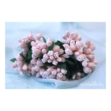 Тычинки с сахарными вставками, «Пыльно-розовый»