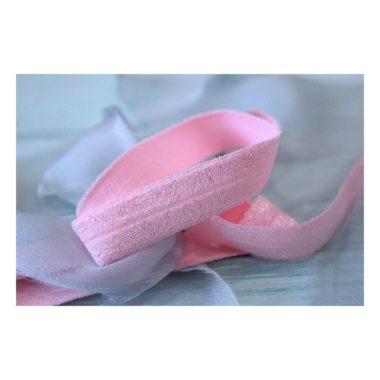Тесьма с люрексом, светло-розовый
