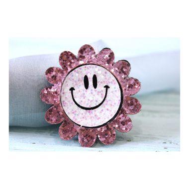 """Патч """"Цветок с улыбкой"""", розовый"""