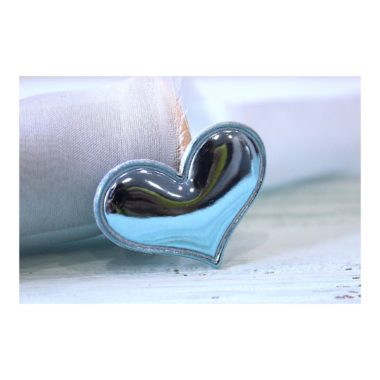 """Патч 3D, глянец """"Сердце"""" 3,6*3 см (цена за 20 шт) SF-1539, голубой"""