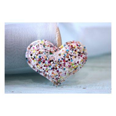 Патч россыпь пайеток «Сердце», бело-розовый