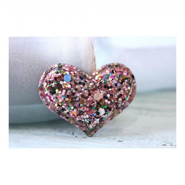 Патч россыпь пайеток «Сердце», розовый