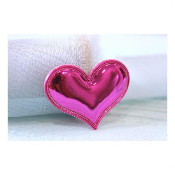 Патч глянец «Сердце» 3,6*3 см, фуксия