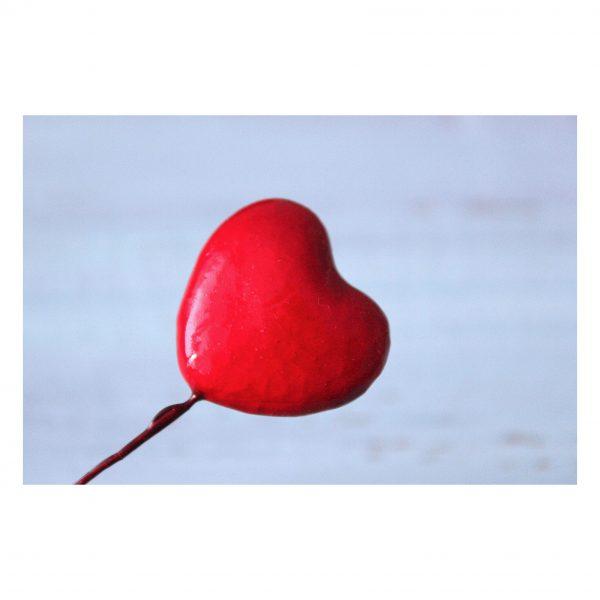 Сердечко мини на проволоке, красный