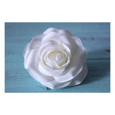 """Головка Розы """"Бело-кремовый"""", 6-7 см"""