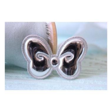 Патч глянец «Бантик» 4*2,5 см, серебро