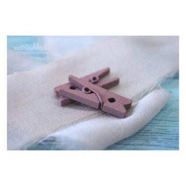 Декоративная прищепка «Пыльно-розовый», 2.5 см