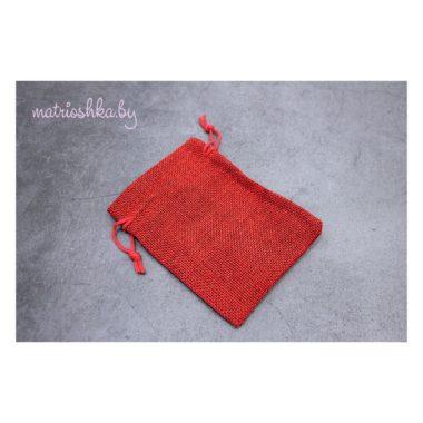 """Подарочный мешочек """"Красный"""", мешковина"""