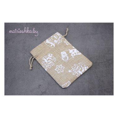 Подарочный мешочек «Снеговик», мешковина