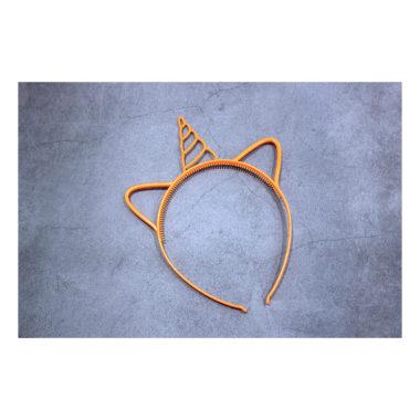 Ободок пластиковый Единорог «Оранжевый», 0.6 см
