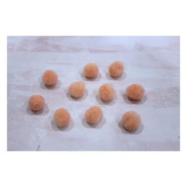 Помпоны Premium «Персиковый» 1 см, 10 шт